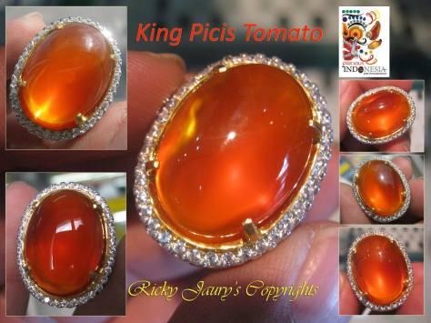 King Picis Tomato - Klasifikasi Penamaan Pacitan Carnelian Chalcedony yang berwarna Cerah dari Kang Arwan Solo