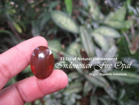 Indonesian Red Fire Opal - Red Baron