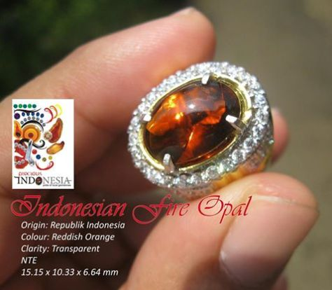 Brownish Red Indonesian Fire opal - Flamingo